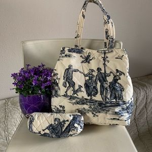 Toile Pierre Deux French Country Bag& Small bag